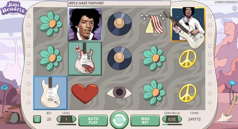 Vinn bonusar och free spins i Jimi Hendrix