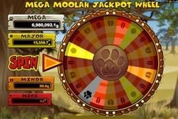 Jackpotthjulet på Mega Moolah