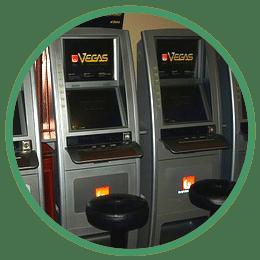 Jack Vegas maskiner på restaurang